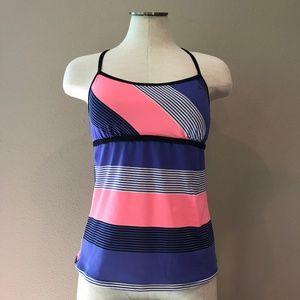 🐞 Nike Cami Swim Top Tankini Striped 6 Small